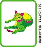 wildcat vector image | Shutterstock .eps vector #1113474860