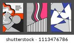 abstract geometric backgrounds... | Shutterstock .eps vector #1113476786