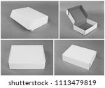 set of cardboard boxes for... | Shutterstock . vector #1113479819