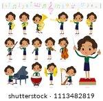 a set of women on classical... | Shutterstock .eps vector #1113482819