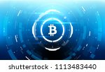 bitcoin cryprocurrency... | Shutterstock .eps vector #1113483440