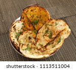 indian naan bread made with... | Shutterstock . vector #1113511004