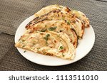 indian naan bread made with... | Shutterstock . vector #1113511010