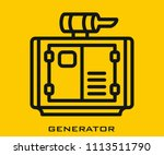generator icon signs | Shutterstock .eps vector #1113511790