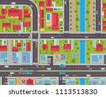 modern detail urban city map... | Shutterstock .eps vector #1113513830