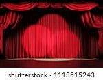 theater stage with red velvet...   Shutterstock . vector #1113515243