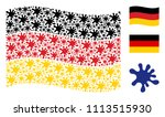 waving germany flag. vector... | Shutterstock .eps vector #1113515930