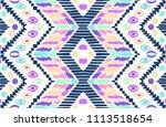 tribal vector ornament.... | Shutterstock .eps vector #1113518654