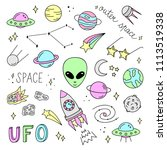 outer space vector objects... | Shutterstock .eps vector #1113519338