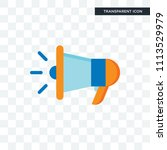 megaphone vector icon isolated... | Shutterstock .eps vector #1113529979