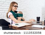 business woman working with...   Shutterstock . vector #1113532058