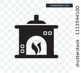 fireplace vector icon isolated...   Shutterstock .eps vector #1113544100