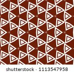 seamless pattern with symmetric ... | Shutterstock .eps vector #1113547958