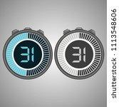 electronic digital stopwatch.... | Shutterstock .eps vector #1113548606