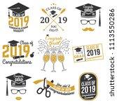 set of vector class of 2019... | Shutterstock .eps vector #1113550286
