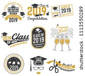set of vector class of 2019... | Shutterstock .eps vector #1113550289