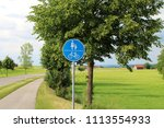traffic sign  bike way and foot ... | Shutterstock . vector #1113554933