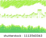 streets with many plants  | Shutterstock .eps vector #1113560363