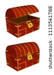 a treasure chest of mahogany...   Shutterstock .eps vector #1113561788