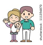 family newly married couple | Shutterstock . vector #111356870