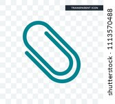 clip vector icon isolated on...