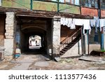 tunnel entrance into old... | Shutterstock . vector #1113577436