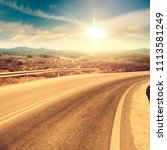 summer road background and free ... | Shutterstock . vector #1113581249