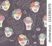 Vector Vintage Teacups And...