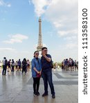paris  france   may 8  2018  a... | Shutterstock . vector #1113583100