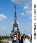 paris  france   may 8  2018  a... | Shutterstock . vector #1113585584