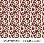seamless pattern with symmetric ... | Shutterstock .eps vector #1113586100