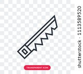 saw vector icon isolated on... | Shutterstock .eps vector #1113589520