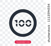 speed limit 100 vector icon... | Shutterstock .eps vector #1113594554