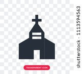 church vector icon isolated on... | Shutterstock .eps vector #1113594563