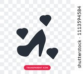 high heels vector icon isolated ... | Shutterstock .eps vector #1113594584