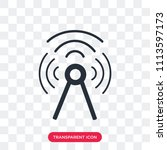 antenna vector icon isolated on ... | Shutterstock .eps vector #1113597173