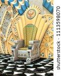 Fantasy Egyptian Throne In A...