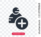 add user vector icon isolated...   Shutterstock .eps vector #1113598868