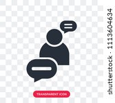 discussion vector icon isolated ... | Shutterstock .eps vector #1113604634