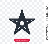 starfish vector icon isolated... | Shutterstock .eps vector #1113604640