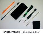 assembling  disassembling phone ... | Shutterstock . vector #1113611510