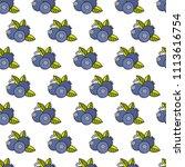 berries pattern background | Shutterstock .eps vector #1113616754