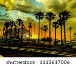 sunset at kos island | Shutterstock . vector #1113617006