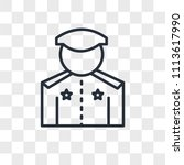 policeman vector icon isolated... | Shutterstock .eps vector #1113617990