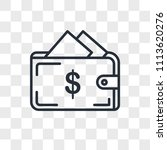 wallet vector icon isolated on... | Shutterstock .eps vector #1113620276