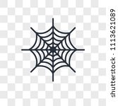 spider web vector icon isolated ... | Shutterstock .eps vector #1113621089