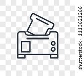 toaster vector icon isolated on ... | Shutterstock .eps vector #1113621266