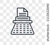 typewriter vector icon isolated ... | Shutterstock .eps vector #1113622040