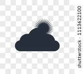 cloudy vector icon isolated on...   Shutterstock .eps vector #1113622100