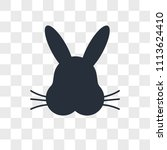 Stock vector rabbit vector icon isolated on transparent background rabbit logo concept 1113624410